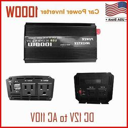 1000W/2000W Car Power Inverter DC 12V To AC 110V Charger Con