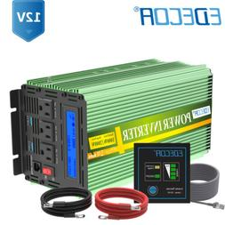 1000W 2000W Power Inverter Pure Sine Wave 12V dc 110V 120V a