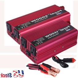 1500/2000W Portable Car LED Power Inverter WATT DC 12V to AC