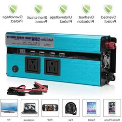 1500W -3000W Peak Power Inverter DC 12V to 110 AC Charger Co