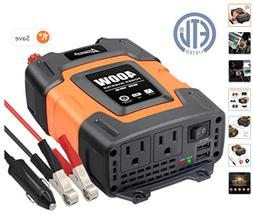 Ampeak 400W Power Inverter 3.1A Dual USB Ports & Two AC Outl