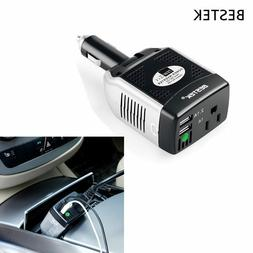 BESTEK 75W DC to AC Car Power Inverter USB Charger for Table