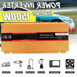 800W 1500W Car Solar Power Inverter 12V To 110V Modified Sin