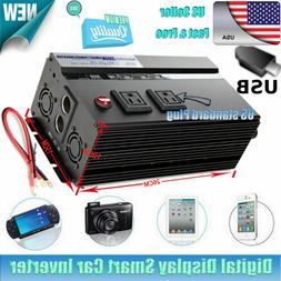 Car Power Inverter 2000W/4000W WATT Charger 12V DC To 110V A