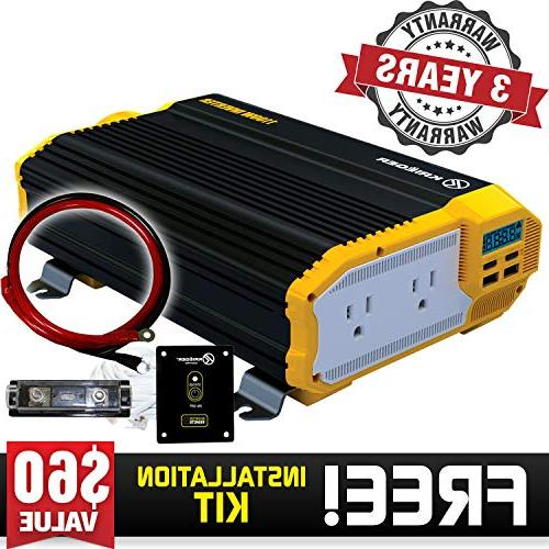 Power Dual AC Installation Kit Power Supply For Vacuums, Power Tools Approved and