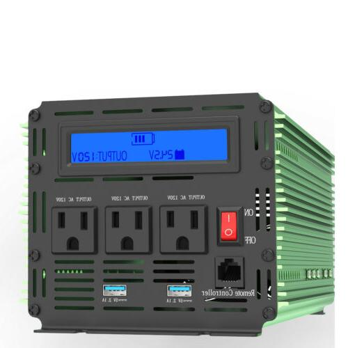EDECOA 4000W to120V ac with Cables Remote