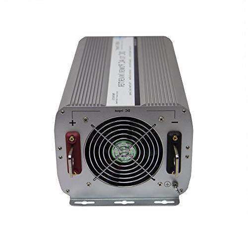 AIMS Power 8000 Watt DC Inverter, 8000W Max Continuous Power, Power, Indicator, Over LED Indicator, AC Direct Terminal Block, On/Off