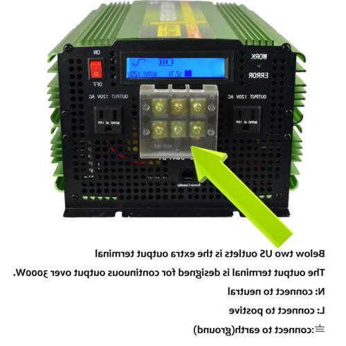 3500W 7000W Power Inverter Pure Wave to LCD