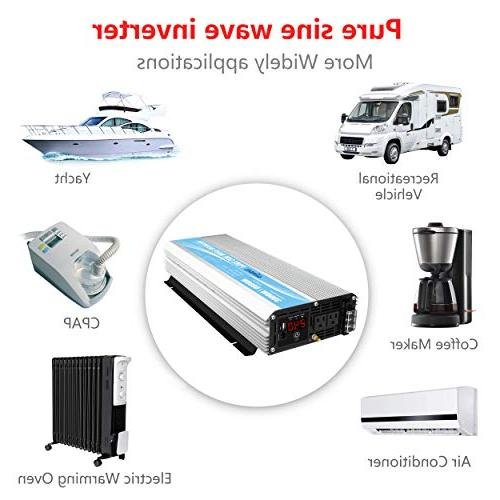 Pure Sine Wave Power Inverter to with AC Control USB LED Display