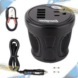 NEW ENERGIZER 180W Cup Holder Power Inverter Car 12V DC to A