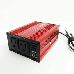 Power Inverter 300W Watts DC to Ac Outlets w/ Dual USB Port