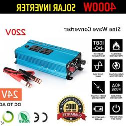 Solar Power Inverter 5000W LED 12V/24V DC to 110V/220V AC Si
